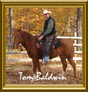 Tom Baldwin on his curly gelding, Ron. RAC's 2008 International Adult 4th place winner!